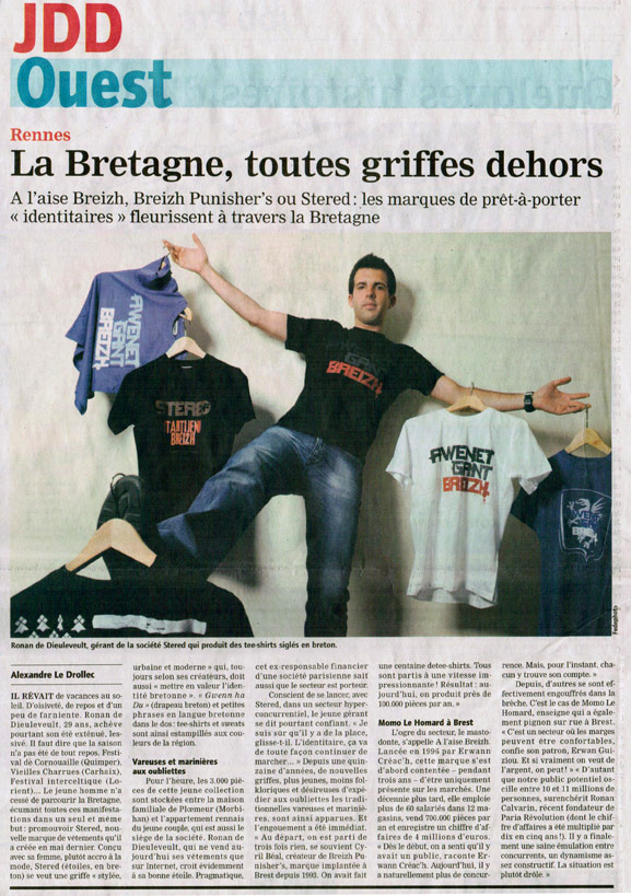 Tee-shirt breton article